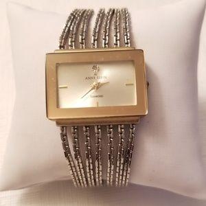 Anne Klein Vintage rectangular metal bezel watch